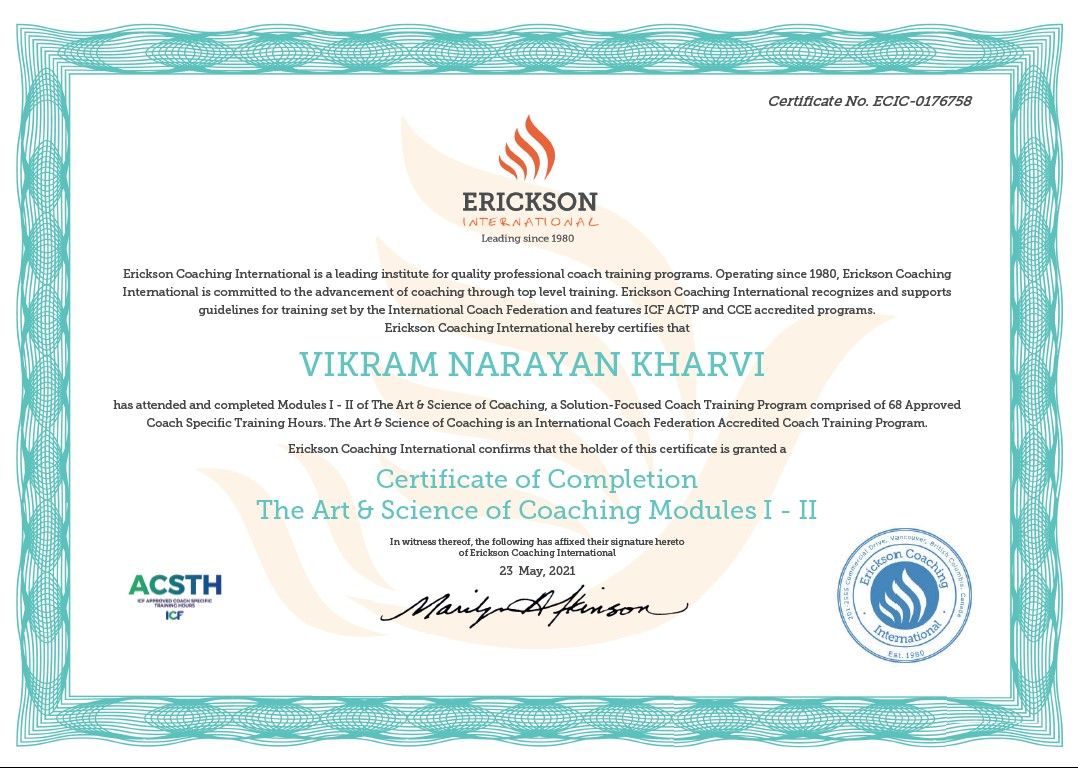 Happy to get certified as a Life Coach